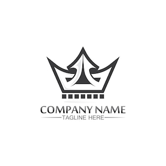 Modelo do logotipo da coroa