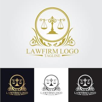 Modelo do logotipo da firma de advocacia