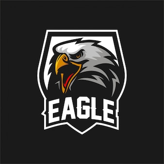 Modelo do logotipo da mascote dos jogos do esport do falcão da águia