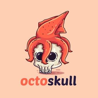 Modelo do logotipo de octoskull
