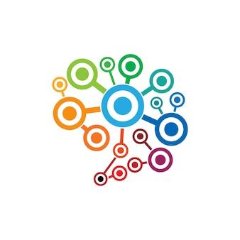 Modelo do logotipo do cérebro