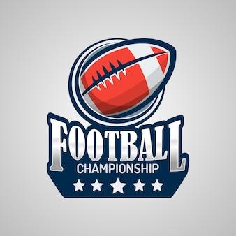 Modelo do logotipo do futebol americano Vetor Premium