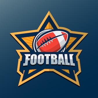 Modelo do logotipo do futebol americano