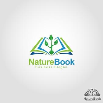 Modelo do logotipo do livro natural