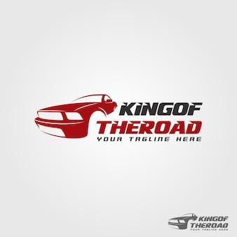Modelo do logotipo do rei da estrada