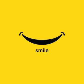 Modelo do logotipo do sorriso