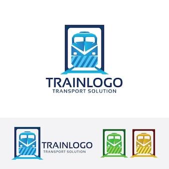 Modelo do logotipo do vetor do trem