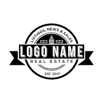 Modelo do logotipo imobiliário