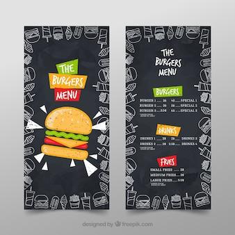 Modelo do menu burger