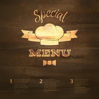 Modelo do menu do restaurante