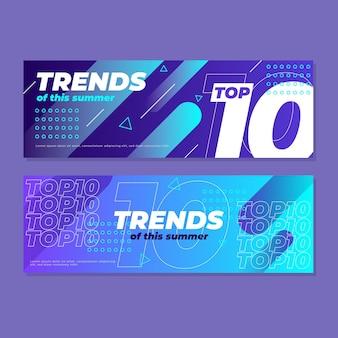 Modelo dos 10 melhores banners de classificação
