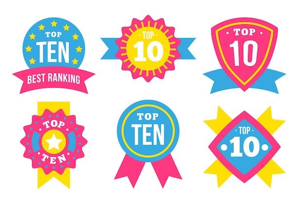 Modelo dos 10 principais rótulos