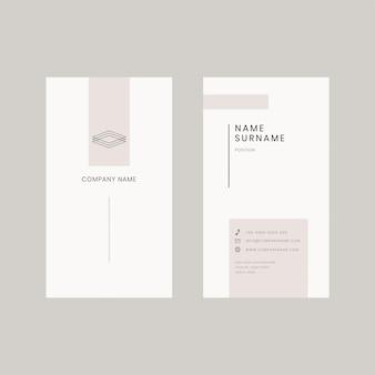 Modelo editável de cartão de visita bege