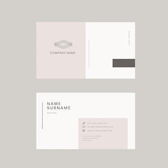 Modelo editável de cartão de visita