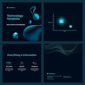Modelo editável de conjunto de apresentação de marketing digital