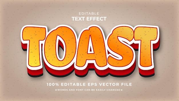 Modelo editável de efeito de texto brinde