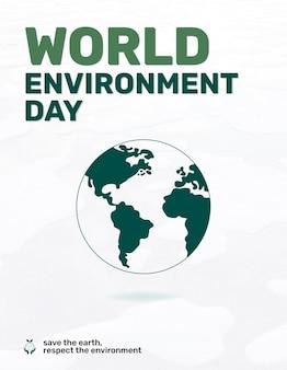 Modelo editável de folheto do dia mundial do meio ambiente