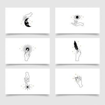 Modelo editável de logotipo de mão elegante beleza