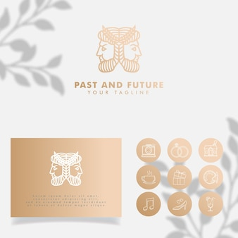 Modelo editável de logotipo minimalista