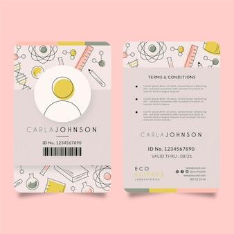 Modelo editorial de cartão de identificação