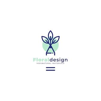 Modelo editorial de logotipo de design