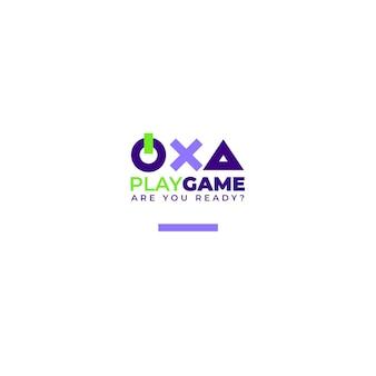 Modelo editorial de logotipo de jogos