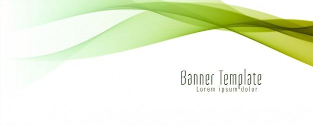 Modelo elegante abstrato bandeira ondulada
