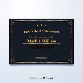Modelo elegante certificado de ouro