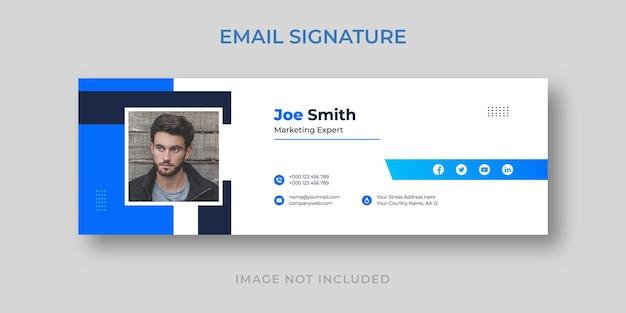 Modelo elegante de assinatura de e-mail empresarial