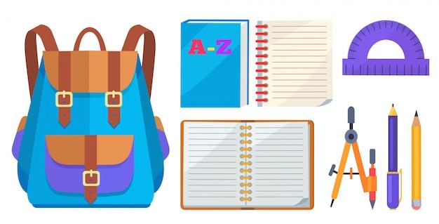 Modelo elegante de mochila e acessório escolar