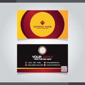 Modelo elegante do cartão amarelo e vermelho