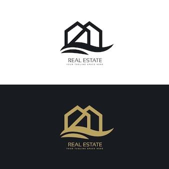 Modelo elegante do projeto do logotipo da casa