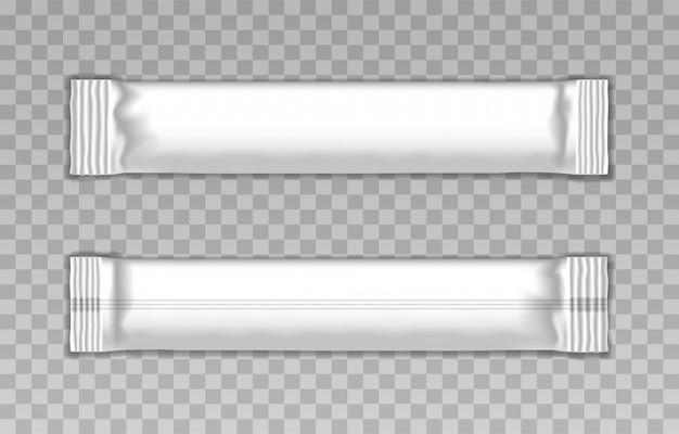 Modelo em branco da vara de embalagem branca