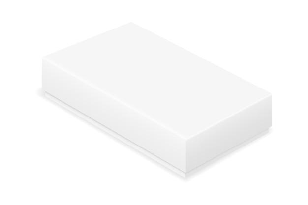 Modelo em branco de embalagem de caixa de papelão vazia