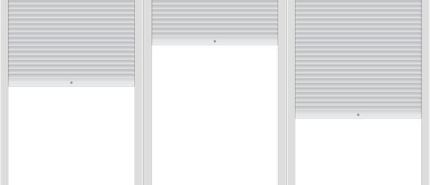Modelo em branco de fundo com persianas.