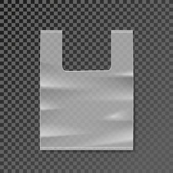 Modelo em branco de saco plástico