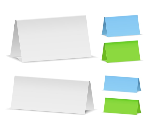 Modelo em branco do calendário de mesa