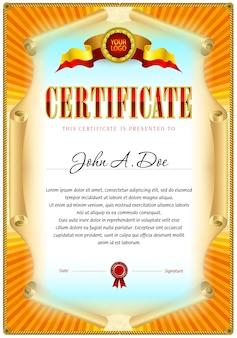 Modelo em branco do certificado