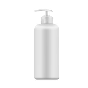 Modelo em branco realista de vetor de garrafa de plástico com dispensador