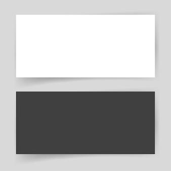 Modelo em branco vazio de cartão de papel para apresentação de identidade visual