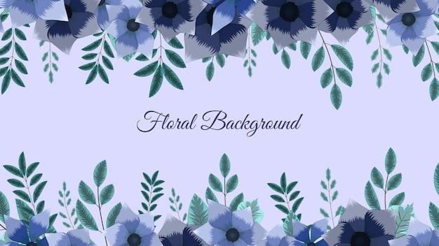 Modelo encantador de arte floral abstrato com elementos da natureza de flores