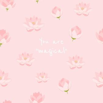 Modelo estético floral editável para postagem em mídia social com citações inspiradoras