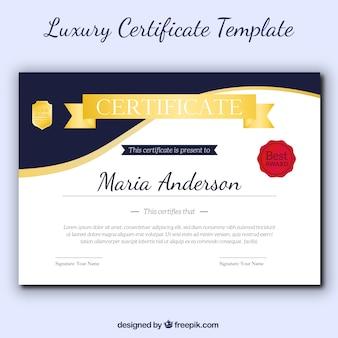 Modelo fantástico de certificado elegante de apreciação