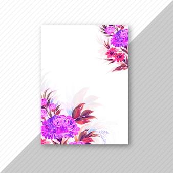Modelo floral colorido de cartão de convite de casamento