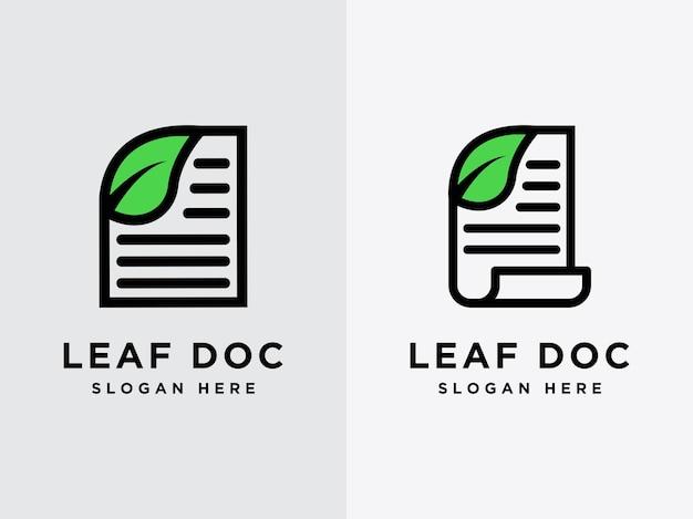 Modelo folha logotipo de design de documento logotipo de dados naturais logotipo de documento