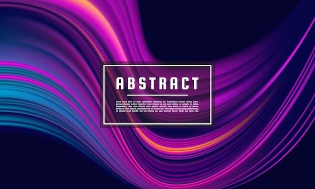 Modelo geométrico abstrato roxo escuro, vetor de fundo roxo wave color flow