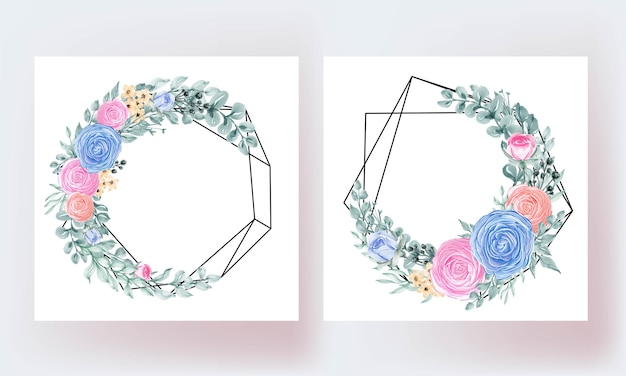 Modelo geométrico de linda rosa floral