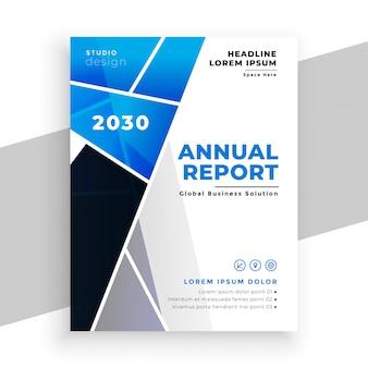 Modelo geométrico de panfleto de relatório anual comercial