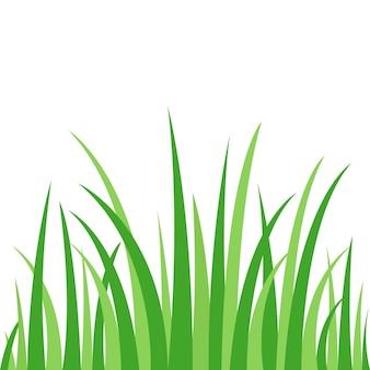 Modelo gráfico de ícone de grama verde