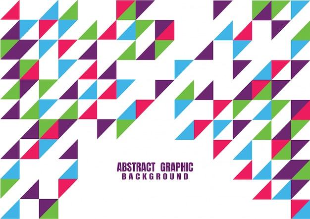Modelo gráfico moderno geométrico colorido abstrato